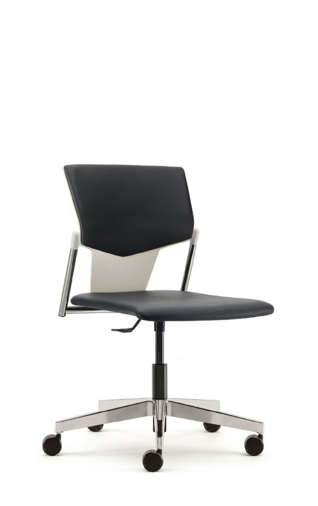 Pledge Ikon Chair With Upholstered Seat And Back Including Swivel Mechanism. Optional Arms